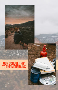 School Trip instagram Story  Mountains