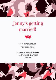 Jenny's getting  Convite de casamento