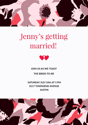 Jenny's getting  Bridal Shower Invitation