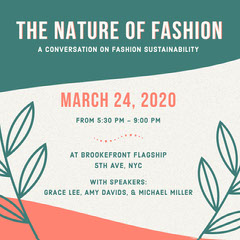 sustainable fashion Instagram post  Teal