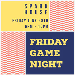 FRIDAY GAME NIGHT Game Night Flyer