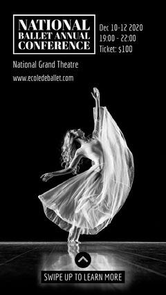 Royal Ballet ig story Dance Flyers