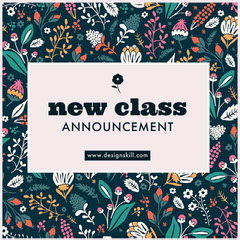 new class announcements Instagram post Pattern Design