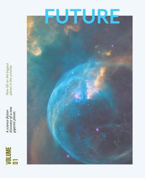 Outer Space Style Astronomy Magazine Cover Copertina per rivista