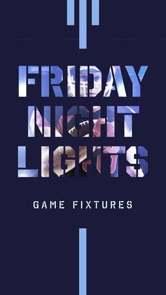 Navy Friday Night Lights Football Instagram Story  Game Night Flyer