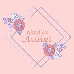 Pink Floral Florist Instagram Square  Flowers