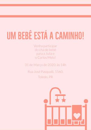 baby is on the way baby shower invitations  Convite para chá de bebê
