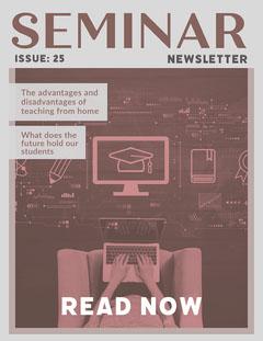 Grey & Red Tech Education Newsletter Tech