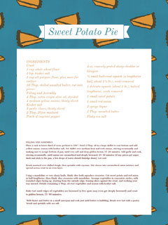 Sweet Potato Pie Recipe Card Recipes