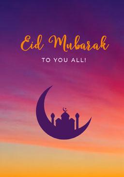 Orange and Violet Eid Mubarak Card jeff-test-5