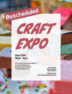 pink white soap craft expo flyer letter Conference Flyer