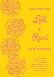 Lali<BR> + <BR>Ravi Wedding Cards