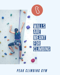 White and Blue Climbing Gym Social Post Gym