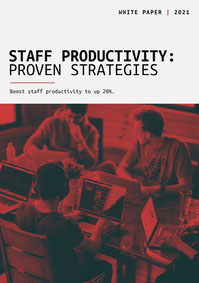 Black and Red, Staff Productivity, White Paper Cover White Paper