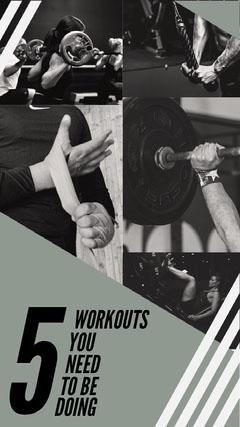 sport instagram story Gym
