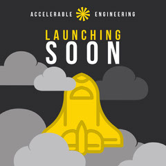 Grey and Yellow Accelerable Engineering Instagram Graphic Launch