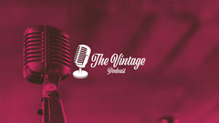 Maroon Microphone Photo Vintage Podcast Youtube Channel Art Podcast