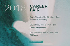 Blue and Beige Career Fair Flyer Job Poster