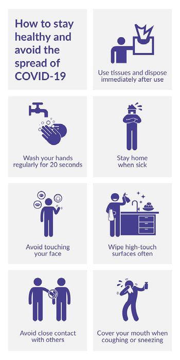 how to stay healthy infographic COVID-19