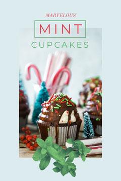 Blue Mint Cupcakes Social Post Cupcake