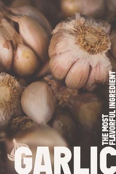 Garlic Cooking Ingredient Pinterest Graphic Cooking
