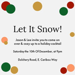 Let It Snow Dots Party Invite Holiday Party Flyer