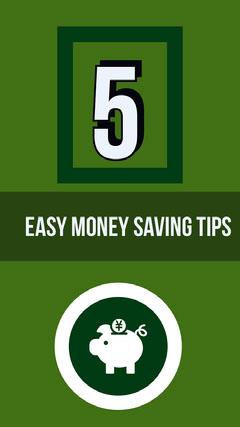 White and Green Saving Money Tips Social Post Finance