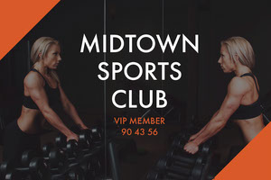 MIDTOWN <BR>SPORTS CLUB Identiteitskaart