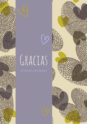 heart patterned thank you cards  Tarjeta de agradecimiento