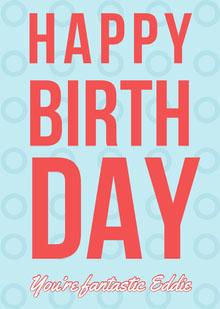 card Birthday Card