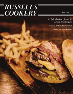 Russells Cookery Magazine Cover Burger