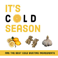 Yellow and White Cold Season Instagram Graphic Healthy
