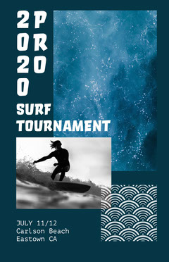 surf competition poster Water