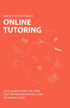 Online Tutoring Poster  Math