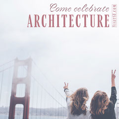 San Francisco Travel and Tourism Instagram Square Ad with Golden Gate Bridge Celebration