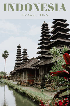 Indonesia Travel and Tourism Pinterest Ad with Pagodas Travel Agency