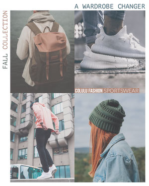 Autumn Collection Square Instagram Ad with Fashion Collage Fashion Collage