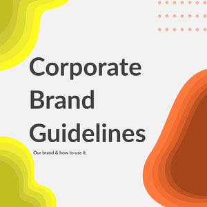 Yellow and Orange Abstract Shapes Corporate Brand Guidelines Instagram Square 50 caratteri moderni