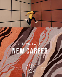 Claret and White New Career Social Post Agency
