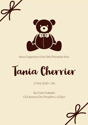 teddy bear baby shower invitations  Prospectus de club