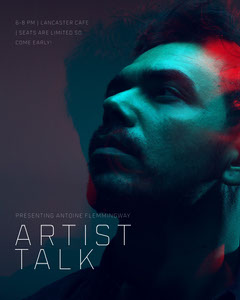Blue and Red Toned Artist Talk Event Instagram Portrait Portrait