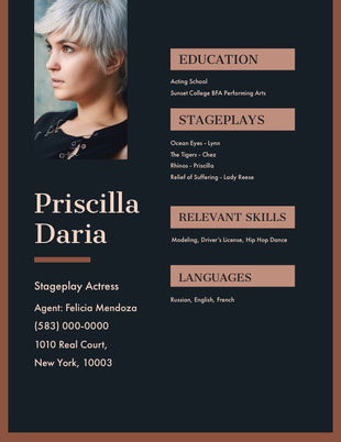 Pink and Black Professional Resume CV