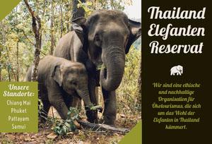 Thailand elephant sanitary travel brochures Broschüre