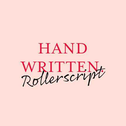 Pink and Red Handwriting Font Logo Brand Square Graphic Ideas de logotipos