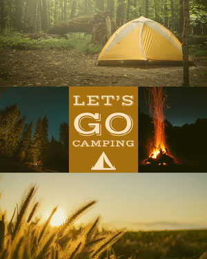 Camping Collage Instagram Portrait Camping Poster