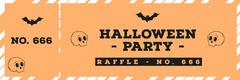 Halloween Pumpkin Bat Party Raffle Ticket Event Ticket