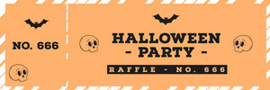 Halloween Pumpkin Bat Party Raffle Ticket Bilhete de sorteio