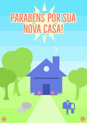 new home congratulations cards  Cartão de parabéns