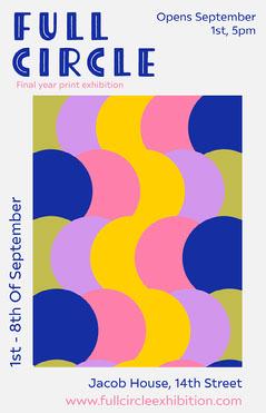 Blue & White Geometric Exhibition Poster  Exhibition