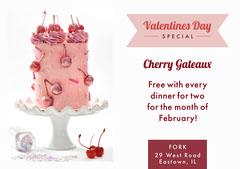 cherry valentines flyer Dessert